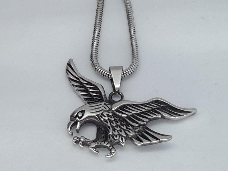 Hanger, adelaar, edelstaal