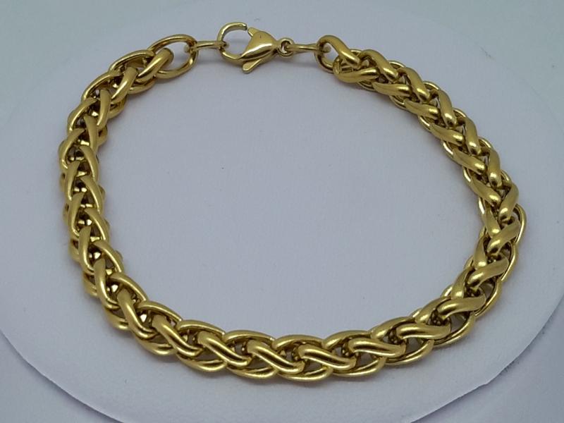 Heren armband goudkl 6, ringen, edelstaal