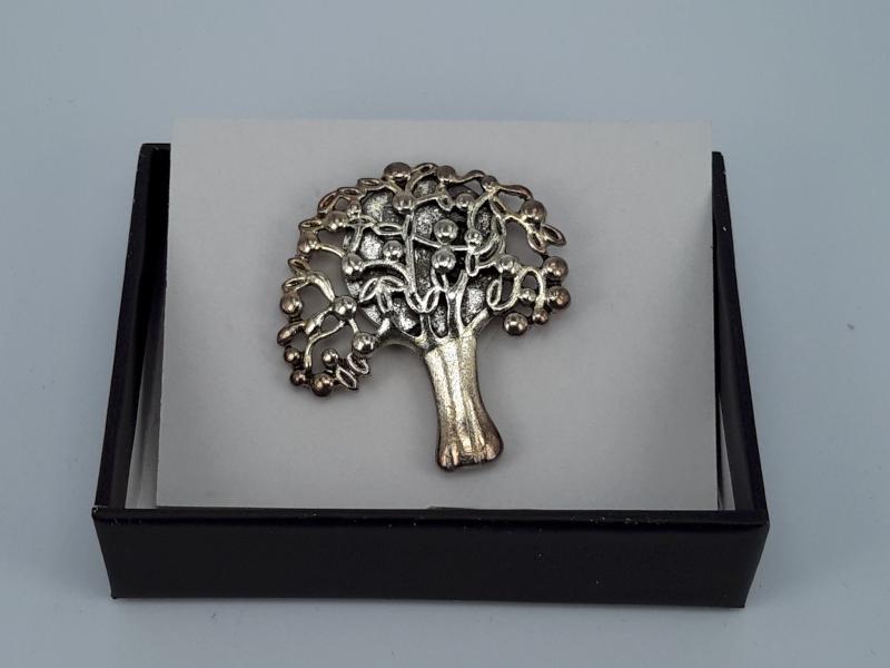 Magneet Broche, levensboom, metaal
