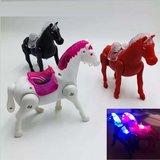 lopend Paard, ledverlichting, muziek, incl 2 AA batterij, doos 108st_
