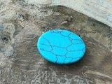 Natuursteen Turquoise Howlite plakstenen ovaal._