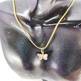 10 set goudkleurig vlinder bedel met ringetjes, _