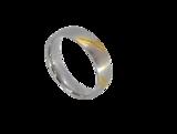 Ringen, diag streep goudkl, edelstaal geborsteld_