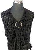 Sjaal ring, handige ring om een sjaal/omslagdoek vast te zetten zonder gaatjes maken._