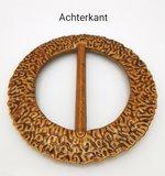 Sjaal ring-bamboe look-handige ring om een sjaal/omslagdoek vast te zetten zonder gaatjes maken._