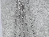 ketting 0,5, ovaal ring, edelstaal, 50_