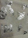 Organza tasje, zilver hartjes of vlinder, per 50_