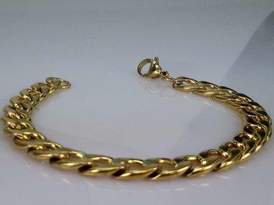 Armband goldfarb, 9 offene Gourmet, edelstahlset