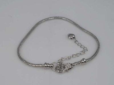 Armband, oa pandora & emotion kralen en bedels, zilverkleur