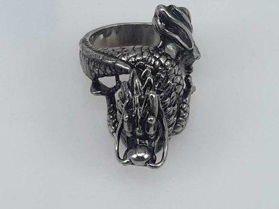 Edelstaal Ringen, Gothic slangendraak, 2 stuks