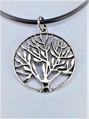 Hanger, Levensboom, zilverkleur.