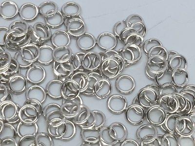 Open ringetje, 2 mm, antiek zilverkleurig, per 100