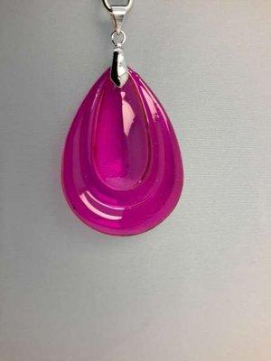 Hanger:  roze glasdruppel