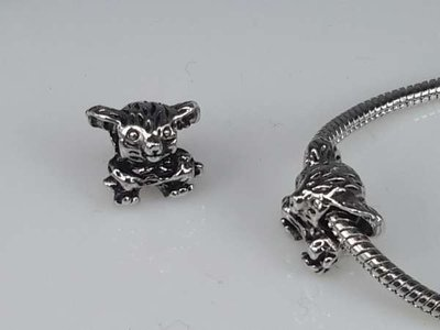 Zilverkleurige pandora style bedel: koalabeertje
