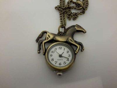 Ketting met klokje, bronskleur, paard