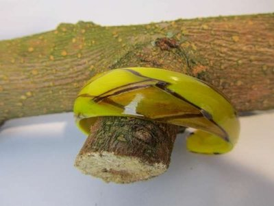 Murano armband, kleurencombinatie geel, goud, bruin