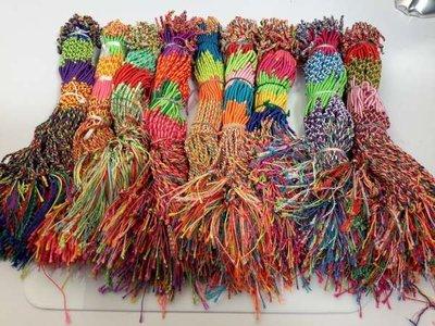 Vriendschaps- en geluksarmbandje: felle kleuren, bundel van 100