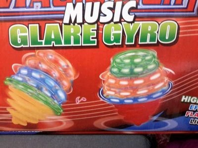 Tol: Magic light music glare gyro, per 12 stuks