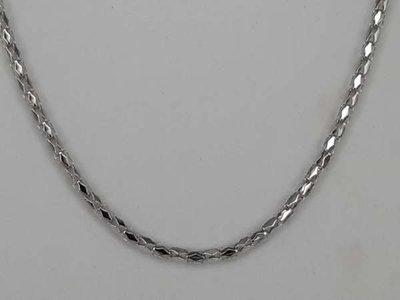 Ovaalvormige open schakelketting, zilverkleurig, 70 cm