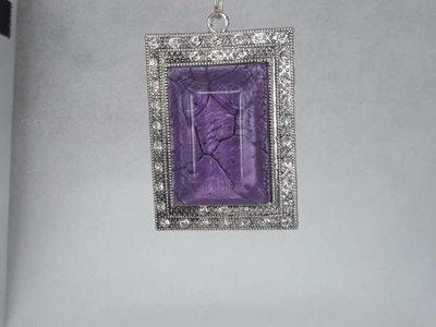 Hanger: rechthoekige paarse