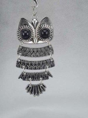 Hanger: uil met zwarte ogen, H 80 mm