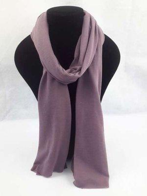 Basis uni viscose sjaal, Aubergine, 6St
