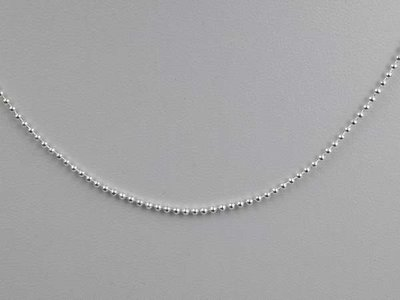 Ketting, 44 cm, zilverkleur.