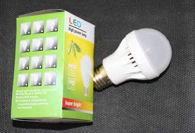 Ledlamp 5W wit, E27
