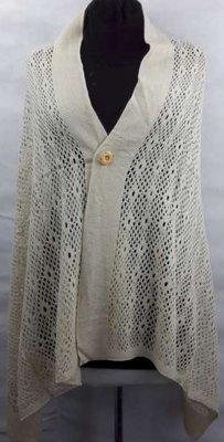 Vest, Omslagdoek of sjaal, gehaakt, knoop