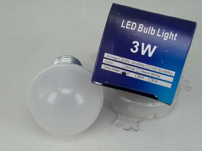 Ledlamp 3W warmwit, E27