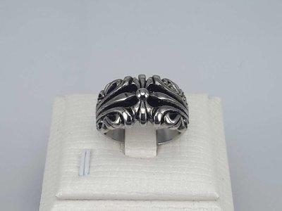Edelstaal Ringen, gothic , doos 36 st