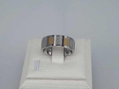 Edelstaal Ringen, symbool, gegoudstraald vlak, doos 36 st