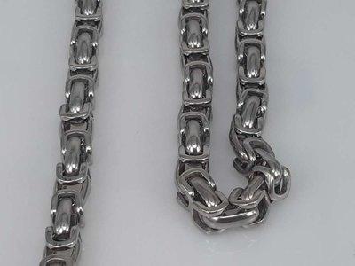 Edelstaal Konings- Armband & Ketting, brede ringschakels