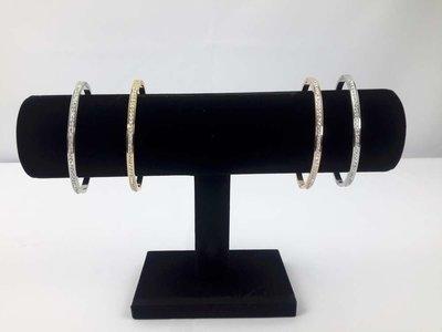 1 rol velours armband & horloge houder, zwart