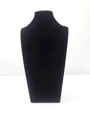 Luxe velours halsbuste, zwart