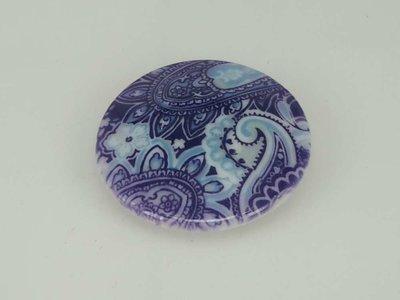 Porseleinen broche met magneetsluiting, Inktbloem
