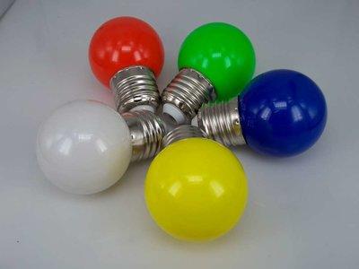 Gekleurde Ledlampen 0,5 W, E27 G45