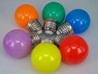 Gekleurde Ledlampen 1W, E27 G45