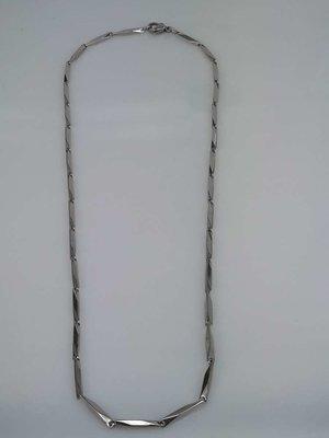 Edelstaal Gepolijst schakel ketting, L 45 cm