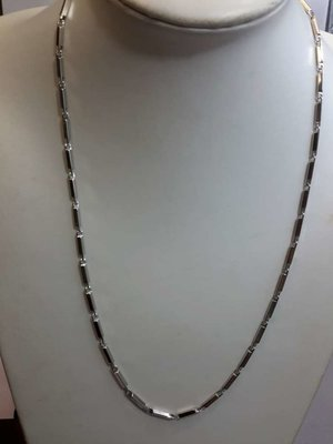 Edelstaal Gepolijst schakel ketting, L 55 cm