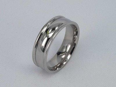 Edelstaal Ringen, brede gladde ring , maat 24