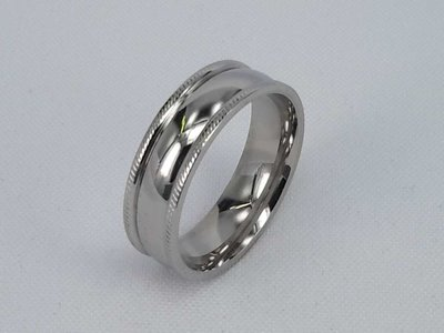 Edelstaal Ringen, brede gladde ring , maat 26
