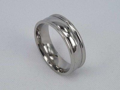 Edelstaal Ringen, zilver brede gladde ring. doos 36st