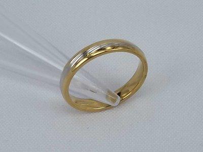 Edelstaal Ringen Goud/zilverkleurig ring. doos 36 st