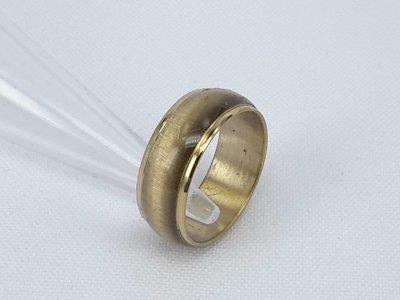 Edelstaal Ringen, Kattenoog, bruin ring met goudkleurig randje. doos 36st