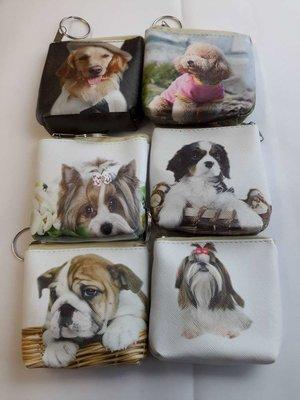 Portemonnee met 6 verschillende honden print.