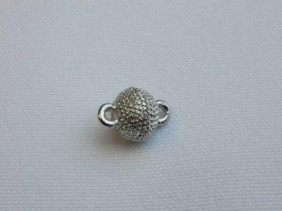 Magneetsluiting zilverkleur 8 mm kleine bolletjes