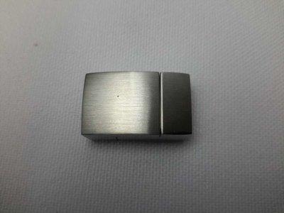 2-delig Edelstaal magneet mat zilverkleur