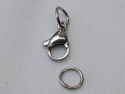 Edelstaal Karabijnsluiting set, zilverkleur.