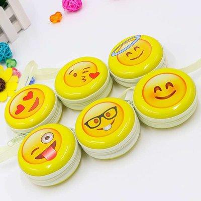 Portemonnee rond met 6 verschillende Emoji print.